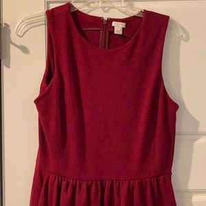 J. Crew Maroon Fit and Flare Dress